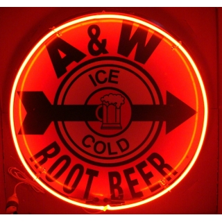 Full Can 24 inch A&W Root Beer Neon