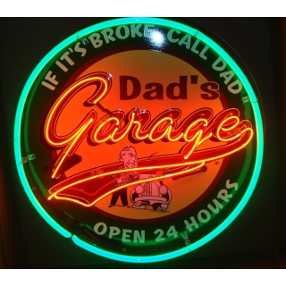 Full Can 24 inch Dad's Garage Neon - 2..