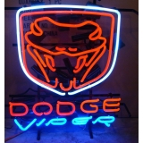 Dodge Viper Neon Sign MEASURES 20 x 22