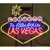 Las Vegas Neon Sign 33 x 39 inches