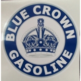 Blue Crown Gasoline Graphic Decal
