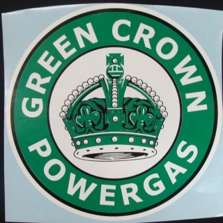Green Crown Powergas Graphic Decal. ap..