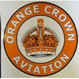 Orange Crown Aviation Graphic Decal