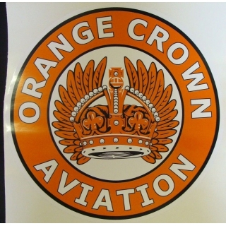 Orange Crown Aviation w/ feathers Grap..