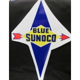 Blue Sunoco Gas Pump Vinyl Decal