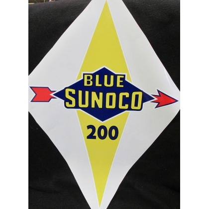 Blue Sunoco 200 Gas Pump Vinyl Decal