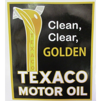 Texaco Golden Motor Oil Vinyl Decal
