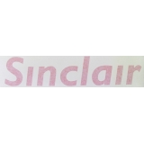 Sinclair Gas Pump Reverse Decal