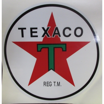 "Texaco Gas Vinyl Decal 12"" Diameter"