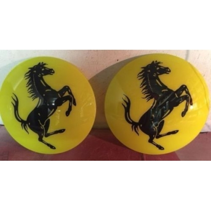 "15"" Ferrari Gas Pump Globe Glass Lenses"