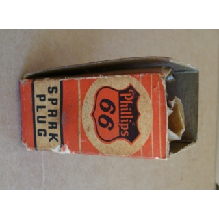 Original Phillips 66 Spark Plug In Box