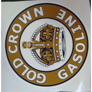 Gold Crown Decal. approx. 11