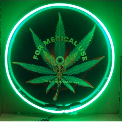 "Medical Marijuana Eye Neon Sign 24"" Full Canned"