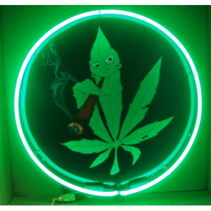 "Marijuana Neon Sign 24"" Full Canned"
