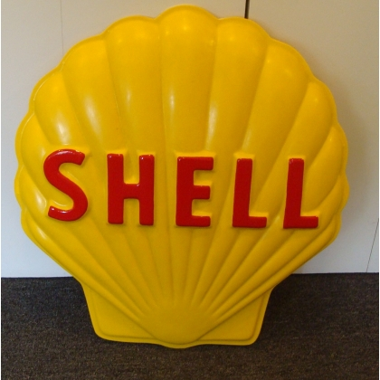 Shell Fiberglass Embossed Advertising Sign Clam