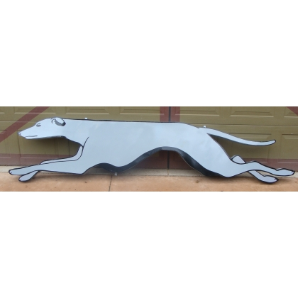 10ft Long Greyhound Metal Advertising Sign