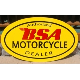 BSA Motorcycle Dealer Metal Hand Paint..