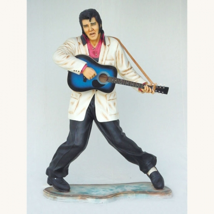 6ft Tall Elvis Fiberglass Statue W/ Guitar Museum Quality!!!