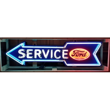 6ft x 1.5ft Ford Service Arrow Multi Neon Sign
