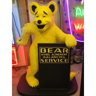 Bear Alignment Advertising Statue W/ S..
