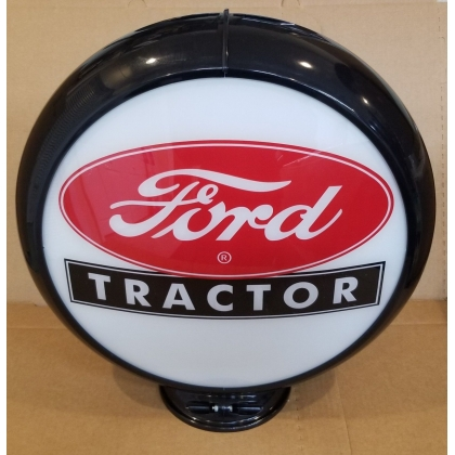 "Ford Tractor Advertising Gas Pump Globe 13.5"" Glass lenses"