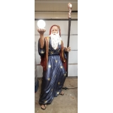 6ft Fiberglass Hand Painted Wizard Sta..