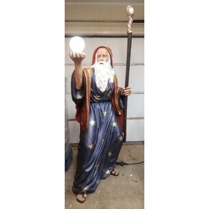 6ft Fiberglass Hand Painted Wizard Statue