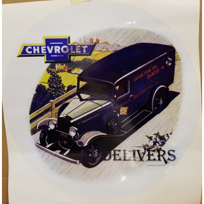 Chevrolet Delivers Truck Decal 12""