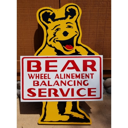 Bear Alignment Advertising Sign Double Sided