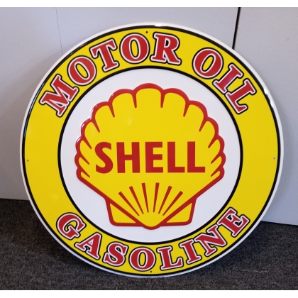 "24"" Tall Shell Gasoline Metal Sign NEW"