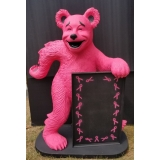 Pink Breast Cancer Awareness Bear Adve..