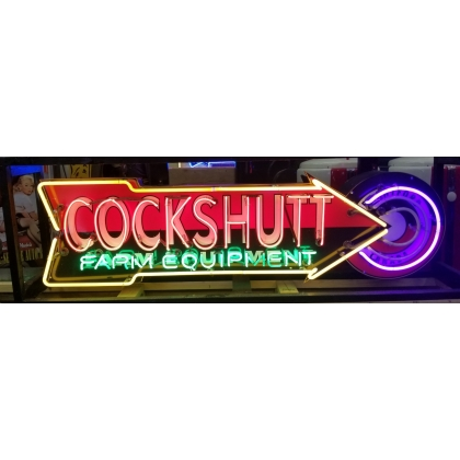 6ft x 1.5ft Animated Cockshut Full Can Custom Neon Sign