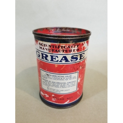 ORIGINAL 1LB GREASE CAN METAL, FEELS FULL 5""
