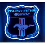 Mustang Highway Emblem Neon Sign 24