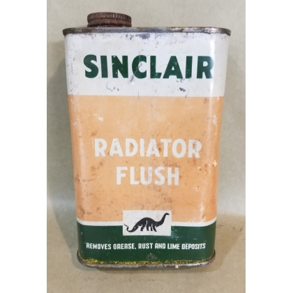ORIGINAL 16OZ SINCLAIR RADIATOR FLUSH CAN METAL FEELS FULL