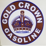 Gold Crown Discount Decal. approx. 12