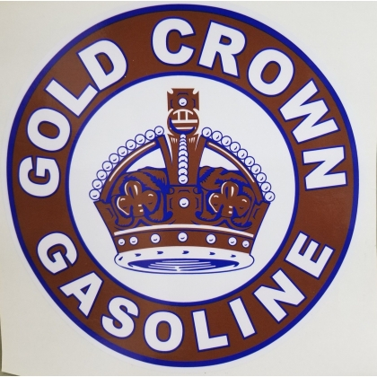 "Gold Crown Discount Decal. approx. 12"" If you have any questions feel free to ask!"