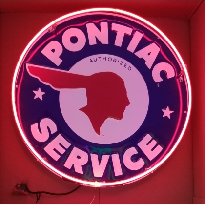 24 inch Full Can Pontiac Service Neon