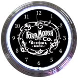Ford Motor Co. Detroit Neon Clock 15