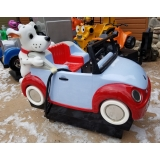 Coin Operated Dog On Car Kiddie Ride