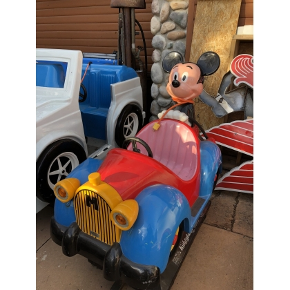 Coin Operated Mickey Mouse Car kiddie Ride