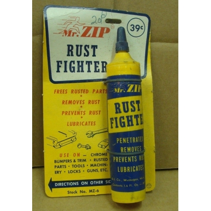 Original NOS Mr Zip Rust Fighter Store display
