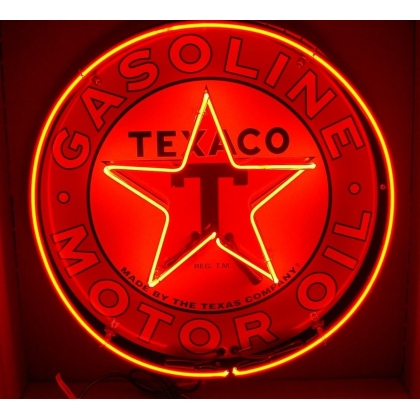24 inch Texaco Full Can Neon Double Neon