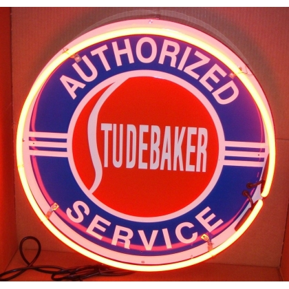 Authorized Studebaker Service, 25 inch Round Neon Sign