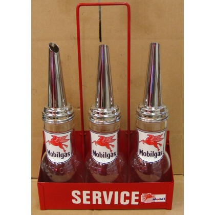 Mobil Rack Of 3 Oil Bottles