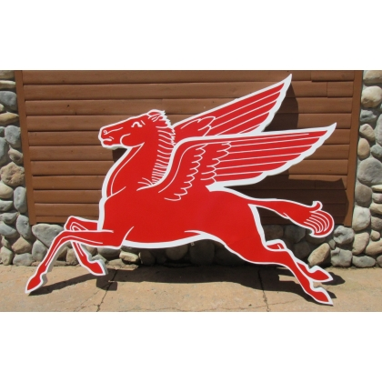 Reproduction Mobil Pegasus Cookie Cutter Sign