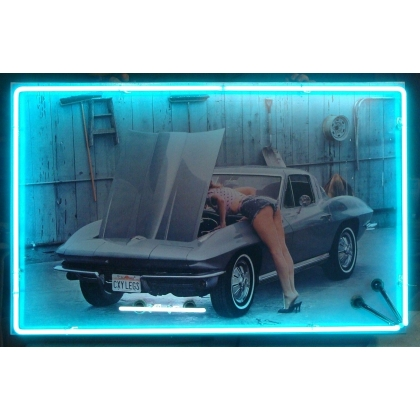 Corvette Pin Up Neon Sign