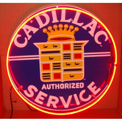 "Cadillac Neon Sign 25"" Full Canned"