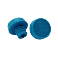 3D Fat Bung Ends - Pair Blue
