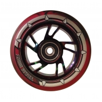 Pro Swirl Wheel 100mm - Nebula Core, Black & Red Mix PU